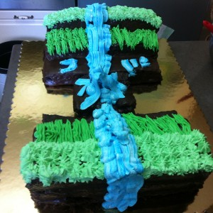 Minecraft Chocolate Cake, designed by my son
