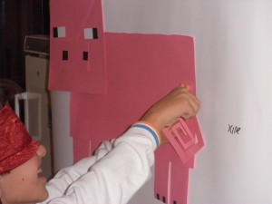 Pin the tail on the Minecraft pig